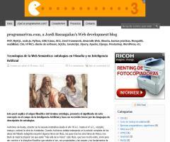 Tecnologías de la Web Semántica: ontologías en Filosofía y en Inteligencia Artificial
