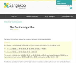 The Euclides algorithm