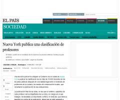 Nueva York publica una clasificación de profesores (El País)