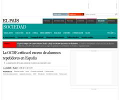 La OCDE critica el exceso de alumnos repetidores en España | El País