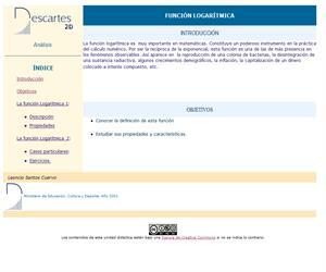 Función logarítmica (Descartes)