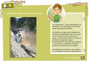 Formación de estratos. Biología y Geología para 3º ciclo de Primaria
