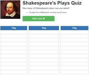 Shakespeare's Plays Quiz