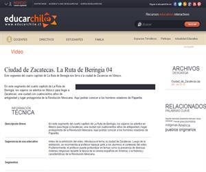 Ciudad de Zacatecas. La Ruta de Beringia 04 (Educarchile)