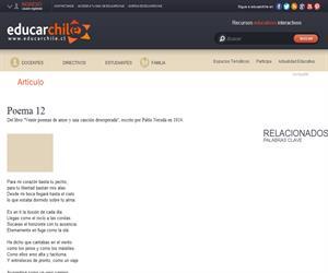 Poema 12 de Pablo Neruda (Educarchile)