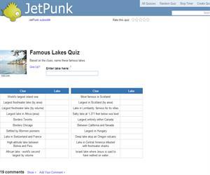 Famous Lakes Quiz