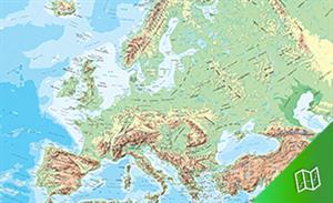 Mapa físico de Europa escala 1: 5.000.000
