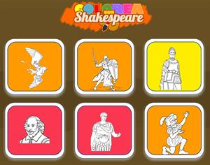 Colorea con Shakespeare