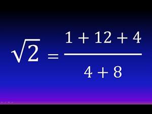 Cálculo fácil de una raíz cuadrada (Método hindú, Bakhshali) (Ejemplo 1)
