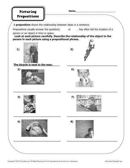 Picturing Prepositions