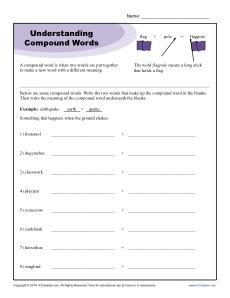 Understanding Compound Words
