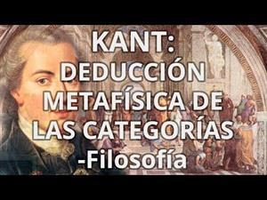 Kant: Deducción metafísica de las categorías