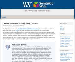 Linked Data Platform Working Group Launched