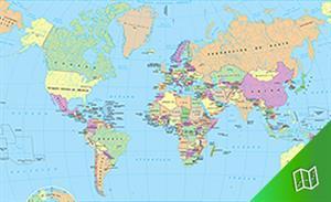 Mapa político del mundo escala  1:82.350.000