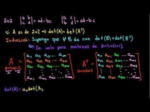 Determinante de una matriz transpuesta