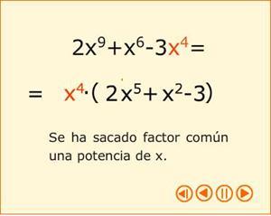 Cómo sacar factor común de una potencia (descomposición factorial)