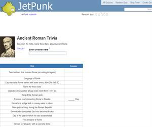 Ancient Roman Trivia