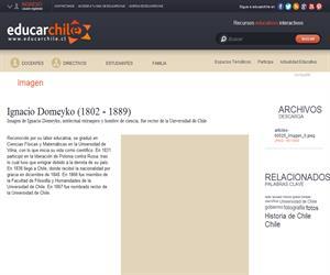 Ignacio Domeyko (1802 - 1889) (Educarchile)