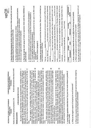 Examen de Selectividad: Inglés. Navarra. Convocatoria Junio 2013