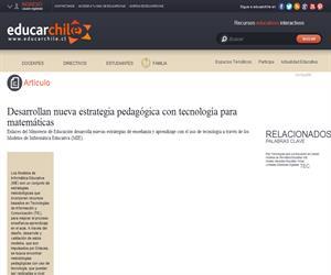 Nueva estrategia pedagógica con tecnología para Matemáticas (Educarchile)