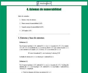 Axiomas de numerabilidad
