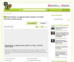 Casa Parramon: un segle de luthiers catalans. Convidats: Jordi Pinto, Guillem Gecubi. (Edu3.cat)