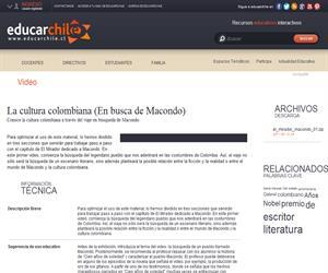 La cultura colombiana. En busca de Macondo (Educarchile)