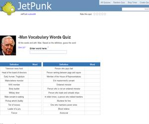 -Man Vocabulary Words Quiz