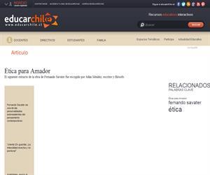 Ética para Amador (Educarchile)