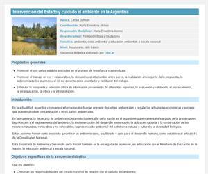 Intervención del Estado y cuidado el ambiente en la Argentina