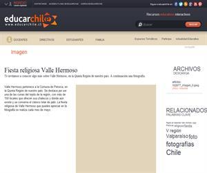 Fiesta religiosa Valle Hermoso (Educarchile)