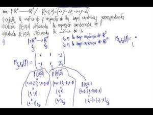 Aplicaciones lineales sin usa fórmula de cambio de base 1