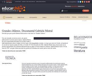 Grandes chilenos. Documental Gabriela Mistral (Educarchile)