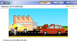 skoool (TM) Simulación. Medición de la velocidad