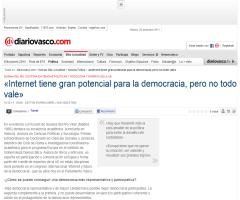 """@Su_delRio: """"Internet tiene gran potencial para la democracia, pero no todo vale"""" #globernance"""