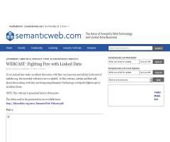 Luchando contra el fuego ¡con Linked Data! - Webcast - Semanticweb.com