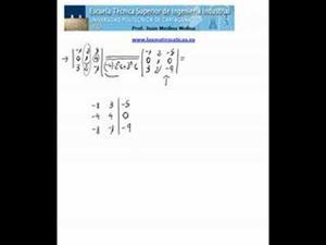 Cálculo de un determinante de orden 3 haciendo ceros