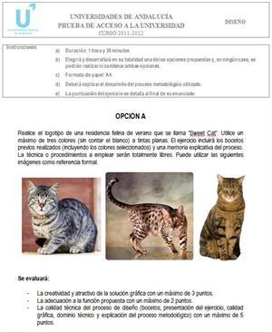 Examen de Selectividad: Diseño 1. Andalucía. Convocatoria Junio 2012