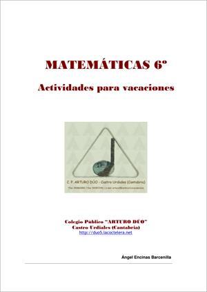 Actividades para vacaciones de Matemáticas (6º de Primaria). CEIP Arturo Dúo