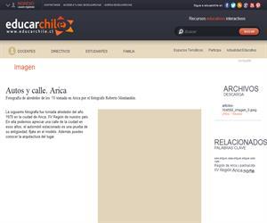 Autos y calle. Arica (Educarchile)