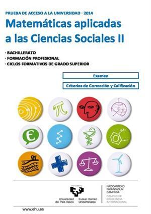 Examen de Selectividad: Matemáticas CCSS. País Vasco. Convocatoria Junio 2014