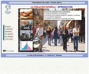 La población española – Conocimiento del medio – 3º Ciclo de E. Primaria – Unidad didáctica.