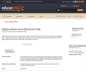Mujeres Ilustres de la Historia de Chile (Educarchile)