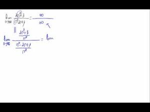 Límite de una sucesión (Cociente de polinomios)