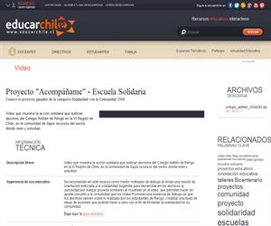 "Proyecto ""Acompáñame"" - Escuela Solidaria (Educarchile)"