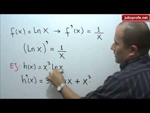 Reglas para derivar funciones logarítmicas (JulioProfe)