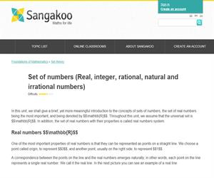 Set of numbers (Real, integer, rational, natural and irrational numbers)