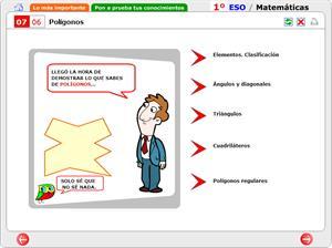 Autoevaluación. Polígonos. Matemáticas para 1º de Secundaria