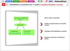 Igualdad: identidad o ecuación. Matemáticas para 2º de Secundaria
