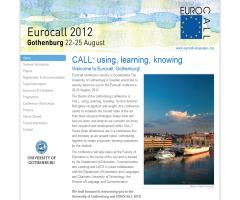 Eurocall 2012 / CALL: using, learning, knowing